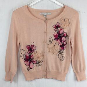 LC New Cameo Rose Appliqué Cardigan Floral XS